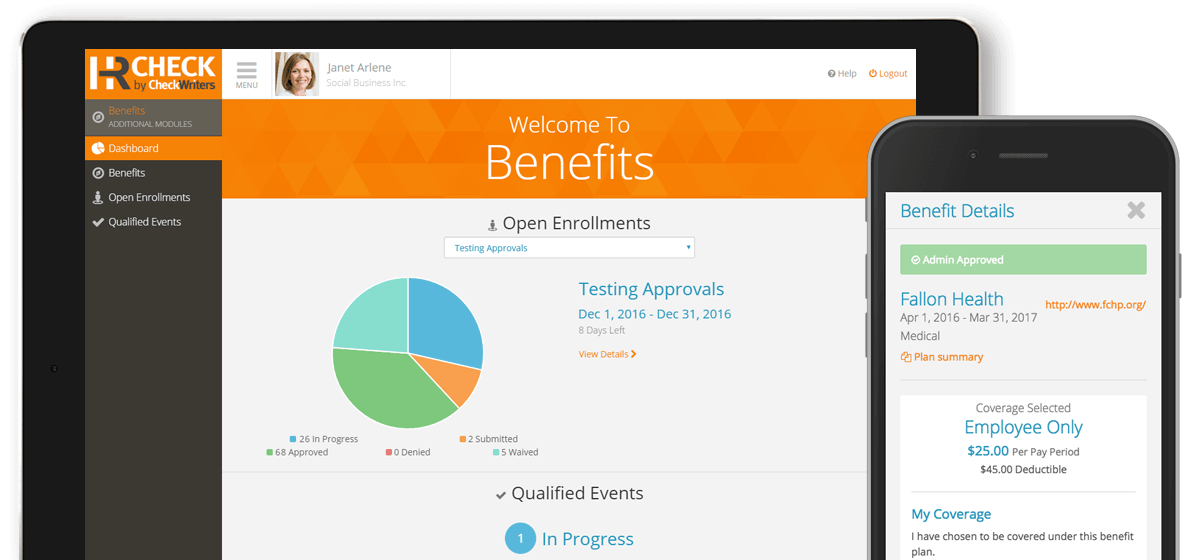 Benefits Screenshot