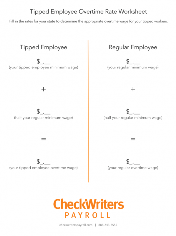 Compliance Alert Tipped Employee Overtime Change Checkwriters Payroll